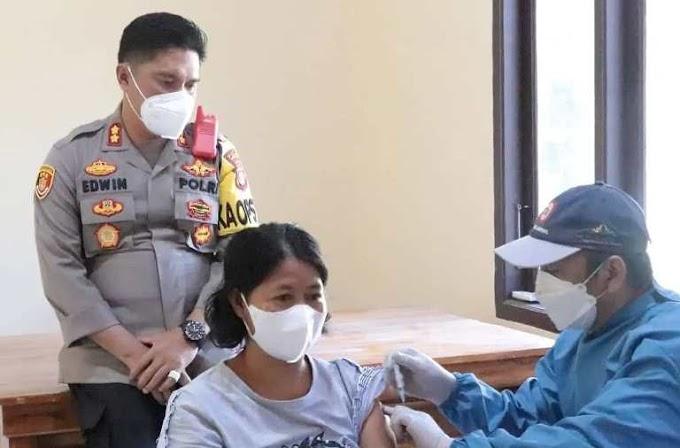 """Polres Lamsel; Telah Dilaksanakan, """"Vaksinasi Khusus Pelajar dan Mahasiswa"""""""
