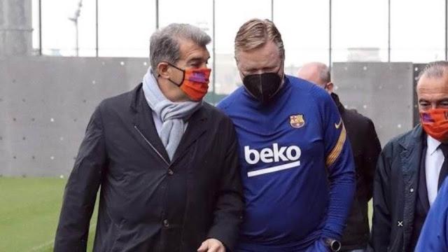 اجتماع هام بين لابورتا وكومان في برشلونة