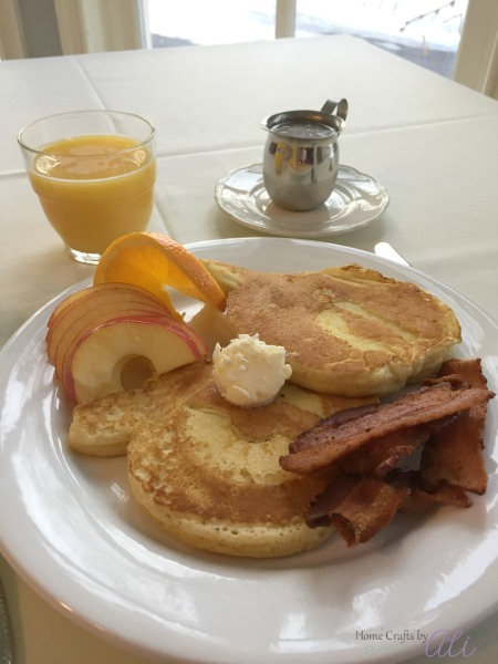 Homemade apple pancakes at Riter Mansion bed and breakfast