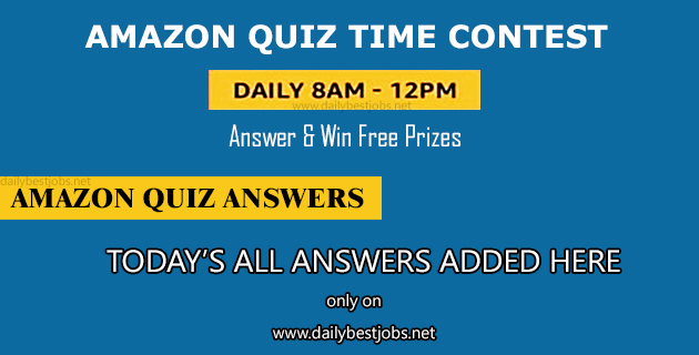 Amazon Quiz Time 29 December 2018 Quiz Answers Win Sony Portable Party System