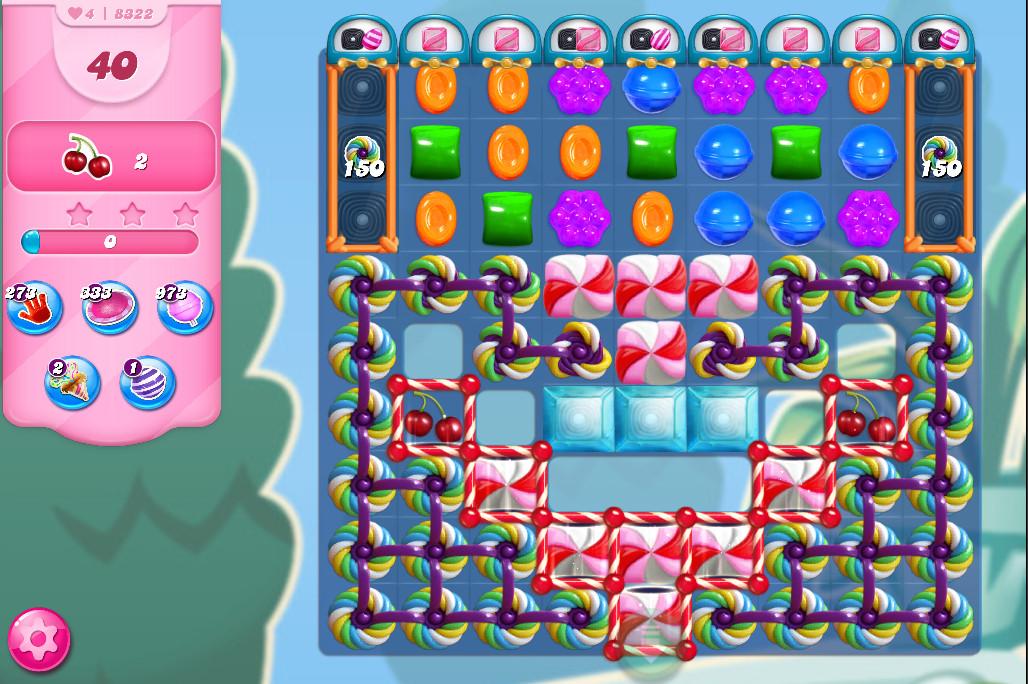 Candy Crush Saga level 8322