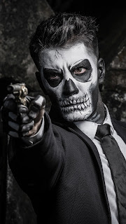 Skull Face Guy Shooting Mobile HD Wallpaper