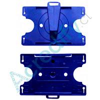 Porta credencial giratorio azul