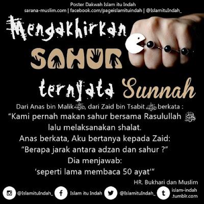 Sunnah Mengakhirkan Sahur