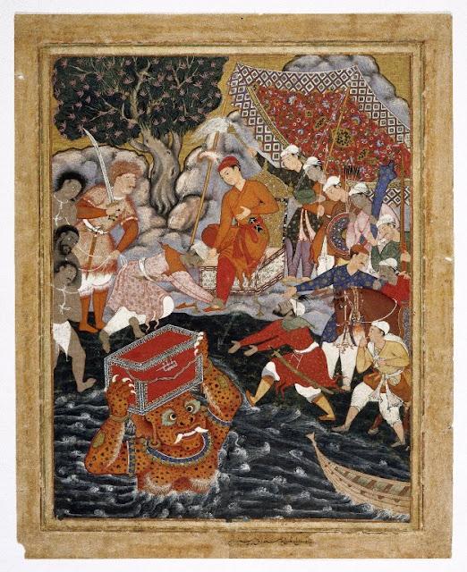 Ifrit entregando el cofre a Hamza
