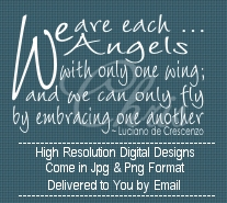 We Are Each Angels Christmas Sentiment Digital Stamp