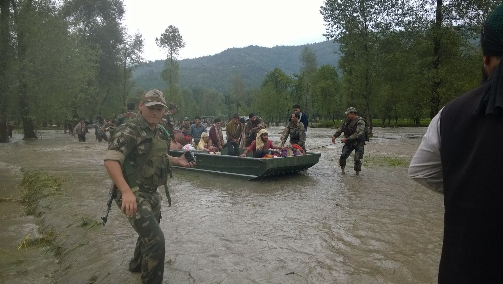 Image result for indian army in civilian rescue mission