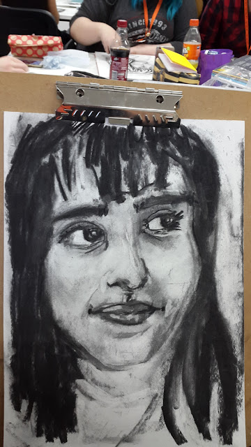 Carmen Wing: Charcoal portrait