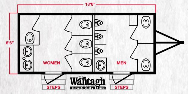 Wantagh Restroom Trailer Floor Plan