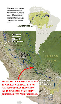 Map of the Amazon River Source, Peru