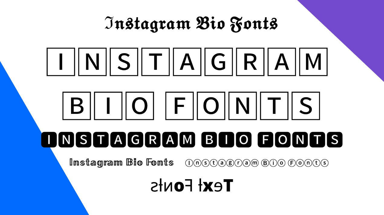 Instagram Bio Fonts