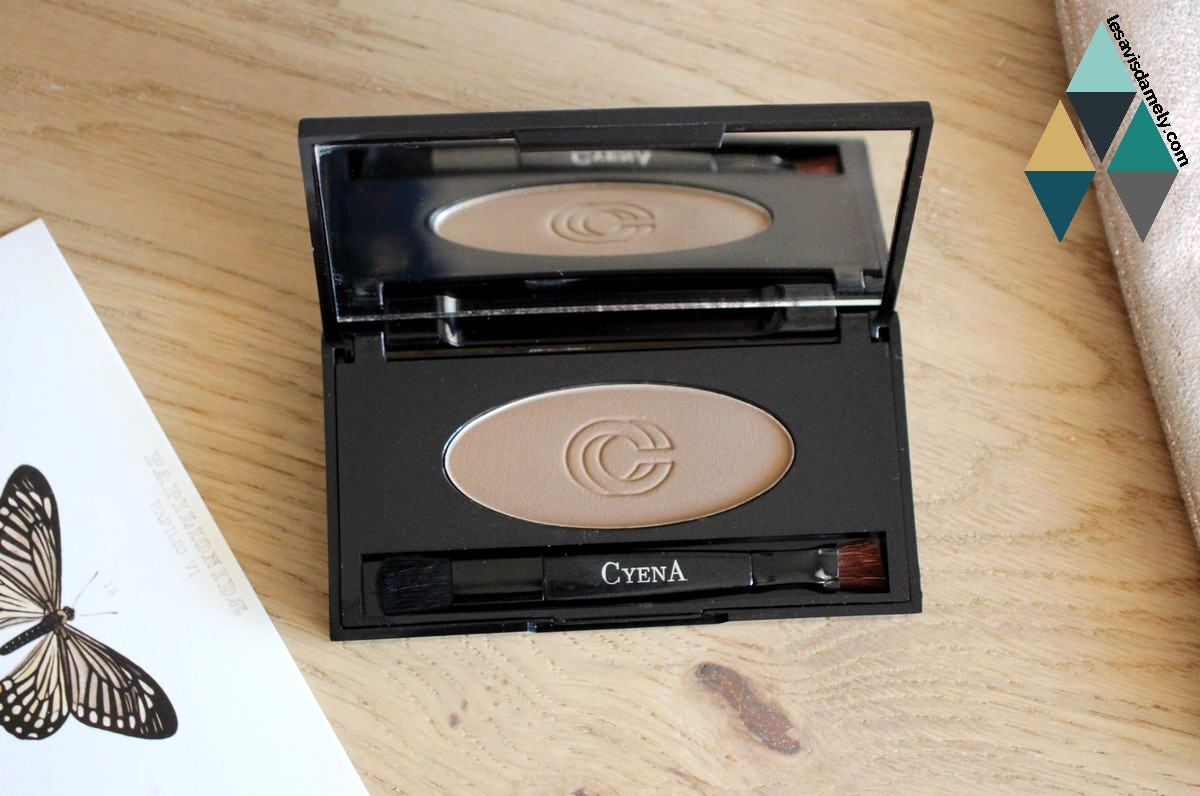 avis et test  poudre sculptant sourcils makeup naturel