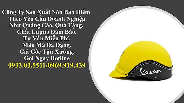 9. Sản xuất mũ bảo hiểm nửa đàu, nón bảo hiểm quà tặng, mũ bảo hiểm giá rẻ, nón bảo hiểm quảng cáo tại Vĩnh Long
