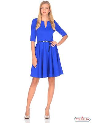 vestidos color azul vintage