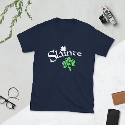 Slainte Tshirt - Slainte Shirt - Slainte Tee - Green Beer