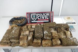 Polícia Civil apreende 14 kg de maconha, cocaína, armas e munições na Paraíba