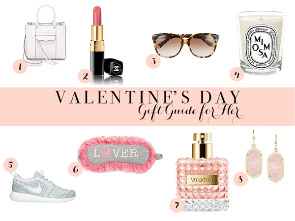 Valentine's Day gift guide for women with gifts from Nordstrom and Shopbop.