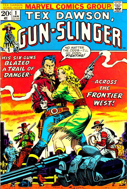 Tex Dawson Gun-slinger v1 #1 marvel 1970s bronze age comic book cover art by Jim Steranko