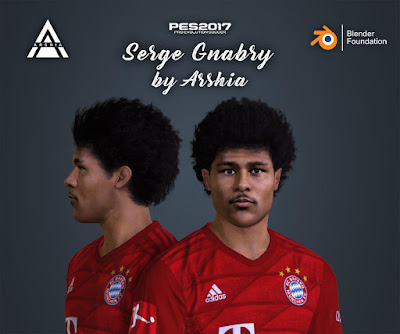 Serge Gnabry Face For PES 17 by Arshia