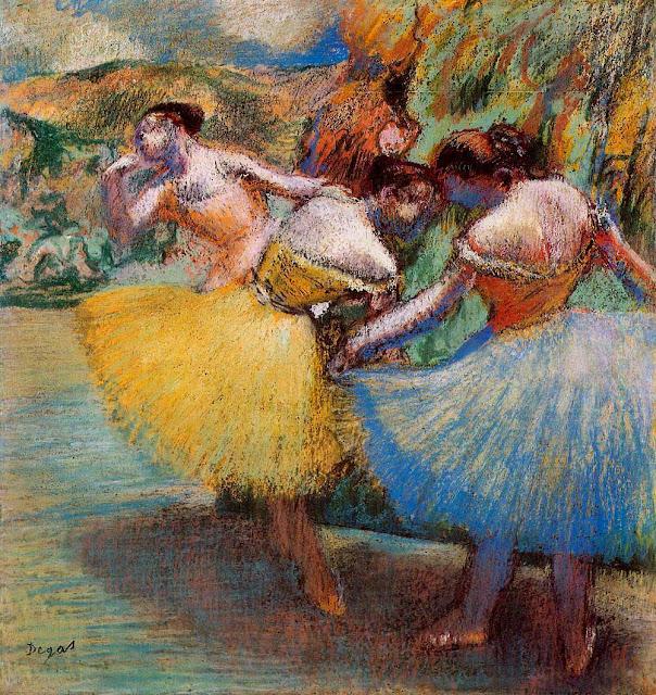 Эдгар Дега - Три танцовщицы (1897-1901)
