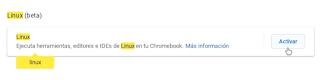 Configuración Chrome OS - Linux (Beta)