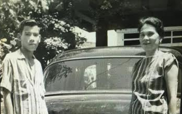 Teenage Duterte with Nanay Soledad