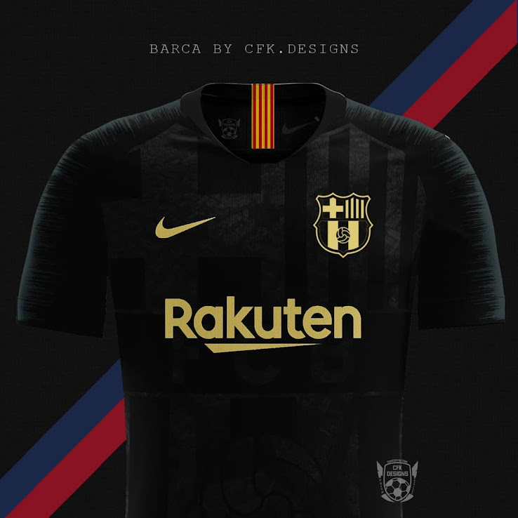 premium selection cc69f dc4b9 Stunning Black & Gold Barcelona Kit Concept by cfk.designs ...