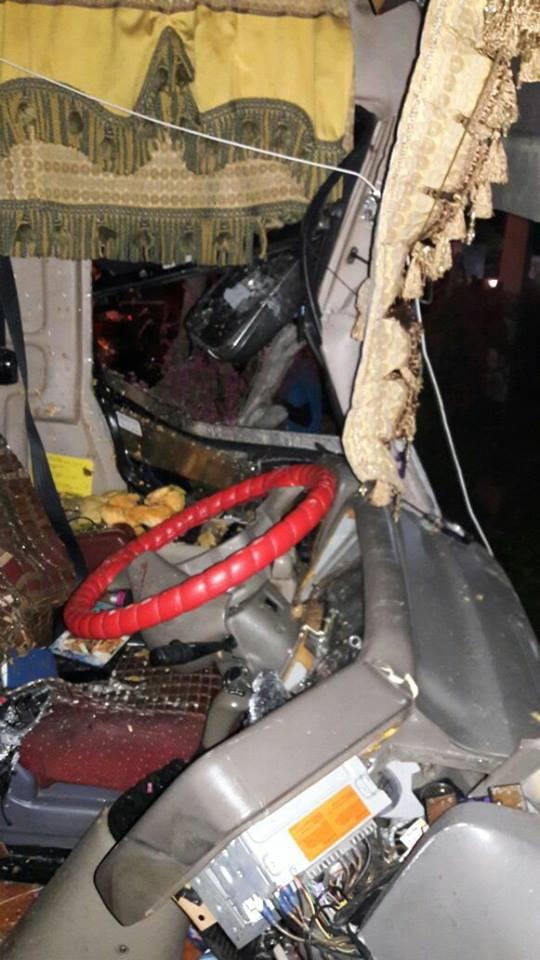 VER IMÁGENES DEL   autobús de Sinchomiba que se accidentó en Azua