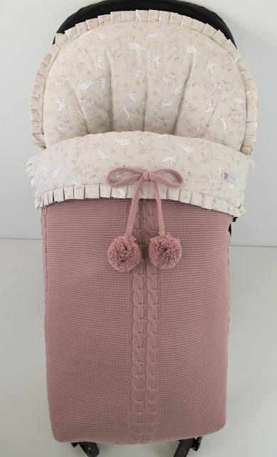 saco silla bugaboo lana rosa empolvado
