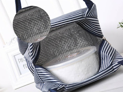 Kain pelapis atau linning pada lunch bag
