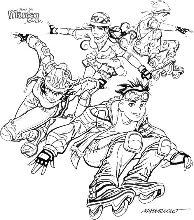 Vovó Ninja Desenhos Para Colorir Turma Da Mônica Jovem 01