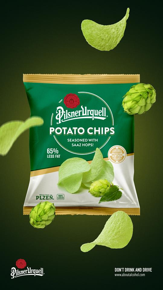 Pilsner Urquell Adding Pilsner Urquell Potato Chips - mybeerbuzz com
