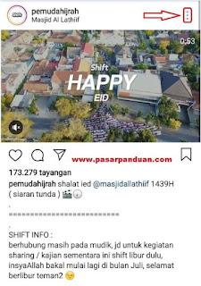 menyimpan video instagram dengan situs online