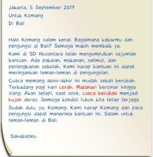 surat untuk Komang