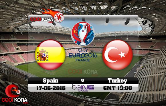 مشاهدة مباراة أسبانيا وتركيا اليوم 17-6-2016 بي أن ماكس يورو 2016