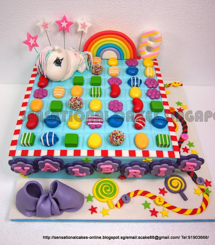 The Sensational Cakes My Pony Candy Crush Cake Singapore