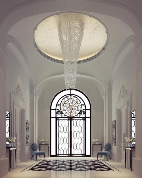 luxurious and splendid elegant stairs design.  Exploring Luxurious Homes