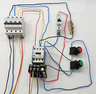 DOL Stater Wiring Connection Step by Step, DOL Stater Wiring