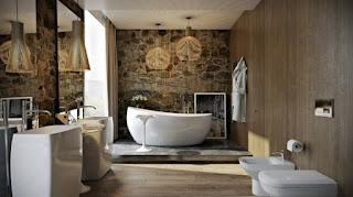 baño lujo moderno elegante