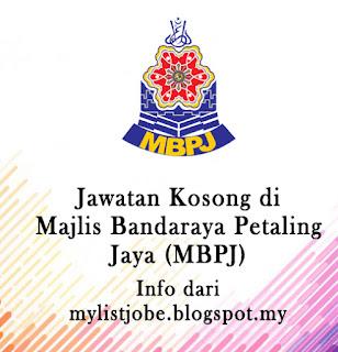Jawatan Kosong Terkini di Majlis Bandaraya Petaling Jaya (MBPJ) - 28 Ogos 2016
