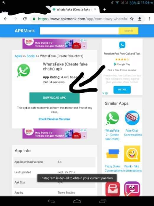 Fake instagram chat apk  Fake Chat Messenger for Android