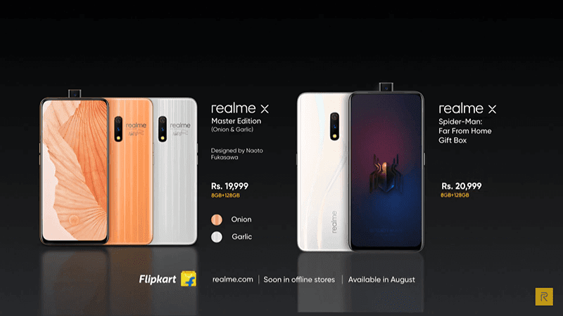 realme X Master Edition designed by Naoto Fukasawa, Spider-Man Far From Home Gift Box
