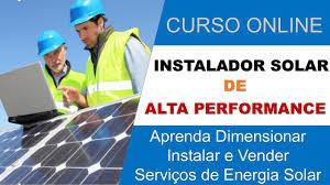 Curso Online  de ENERGIA SOLAR - INSTALADOR DE PLACAS FOTOVOLTAICAS