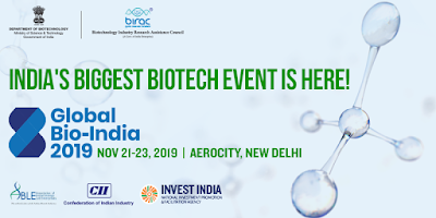 New Delhi to Host First Global Bio-India 2019 Summit from 21st - 23rd November