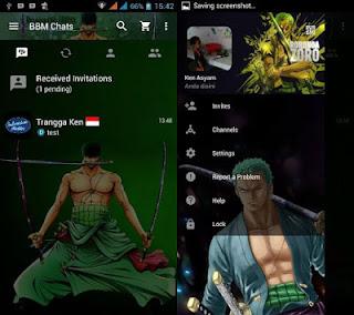 BBM MOD Roronoa Zoro v3.0.0.18 Apk Terbaru 2016