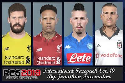 PES 2019 Facepack International vol 19 by Jonathan Facemaker