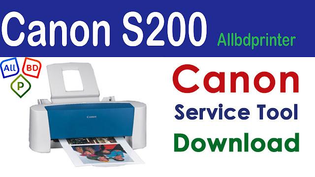 Canon Bubble Jet S200 Resetter Service Tool