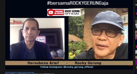 Rocky Gerung Sebut Istana Panik HRS Pulang, Omnibus Law dan UU HIP Bakal Dihadang