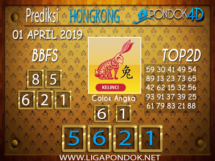 Prediksi Togel HONGKONG PONDOK4D 01 APRIL 2019