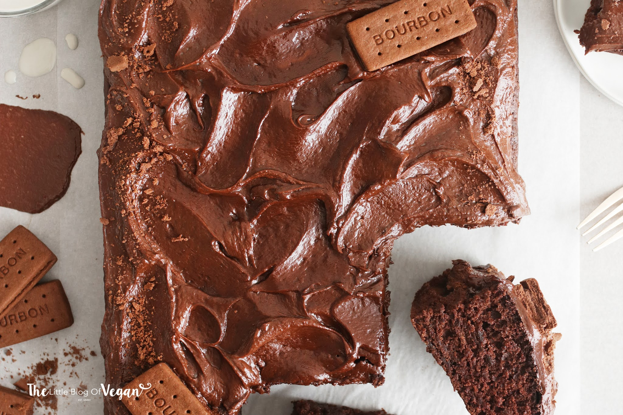 Vegan Bourbon Sheet Cake recipe